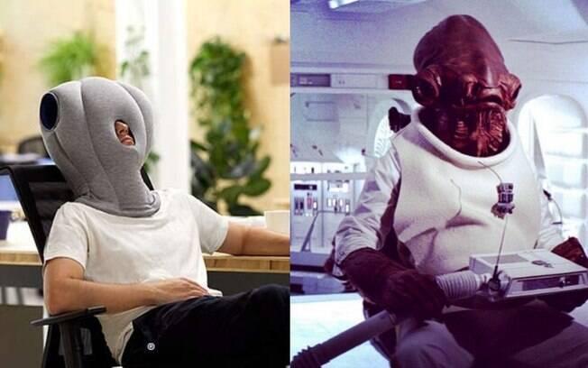 Nos comentários, um usuário comparou o travesseiro com a aparência do personagem Almirante Ackbar, de Star Wars