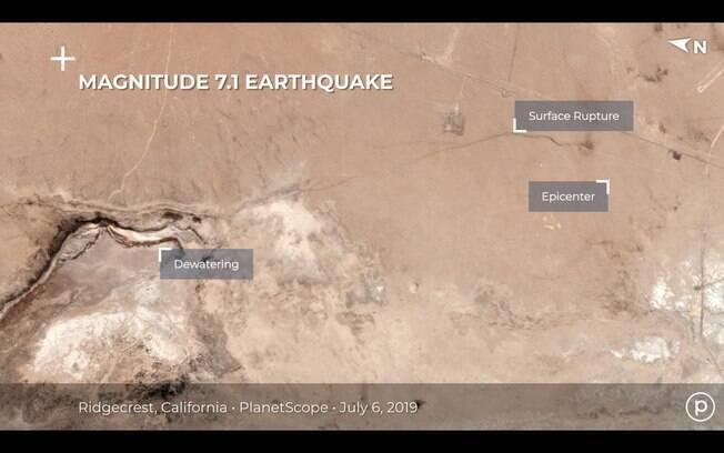 Rachadura causada por terremoto pode ser vista do espaço