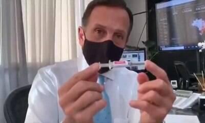 Otimista, Doria diz que espera vacinação total dos brasileiros até fevereiro