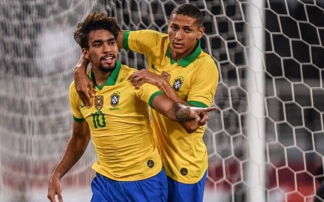 Lucas Paquetá marcou o primeiro gol do Brasil diante da Coreia do Sul
