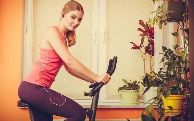 treino na bike em casa