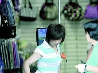 No hipercentro, lojas de produtos da China são constantes