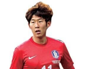 O craque Son Heung-Min 21 anos Atacante Bayer Leverkusen-ALE