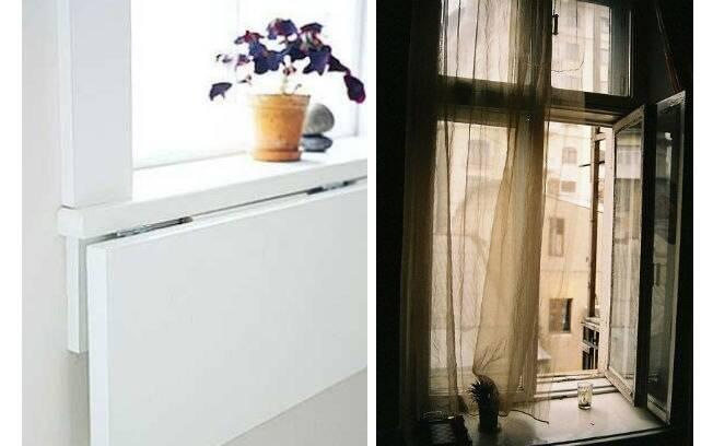 O parapeito da janela é um lugar que deve ser lembrado na faxina