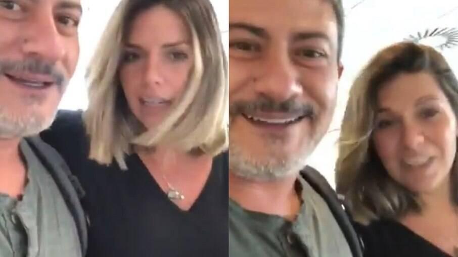 Cybelle Hermínio e Tom Veiga em vídeo antigo
