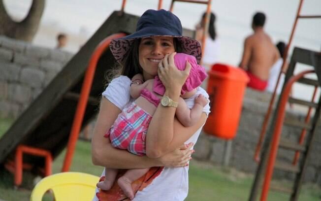 Maria Luiza completa amanhã (24), 4 meses