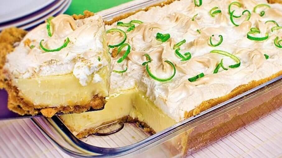 Torta-mousse de limão