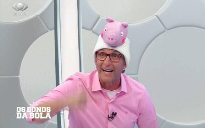Neto apresentou o programa vestido de Peppa Pig