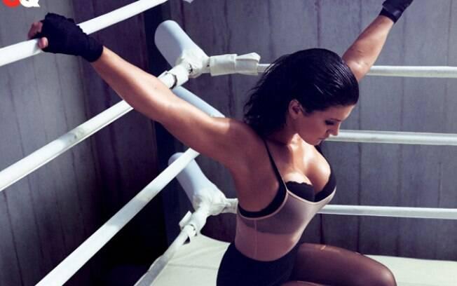 Gina Carano é a grande estrela do MMA feminino nos EUA. Foto: GQ/Divulgação