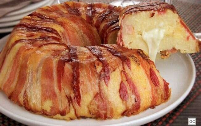 Torta de batata com bacon: opção prática para uma refeição especial