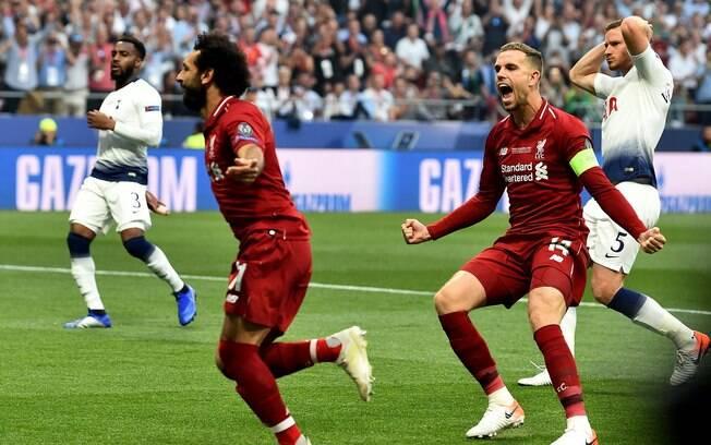 Salah fez o primeiro gol do Liverpool na final da Liga dos Campeões