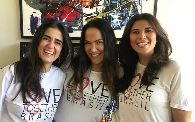 A Publisher Sandra Teschner e as amigas Fernanda Calfat e Geralda Sarraf,