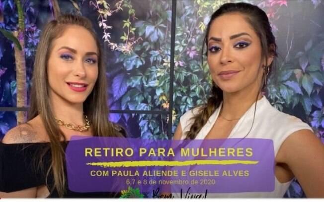 Paula Aliende e Gisele Alves promovem retiro para mulheres