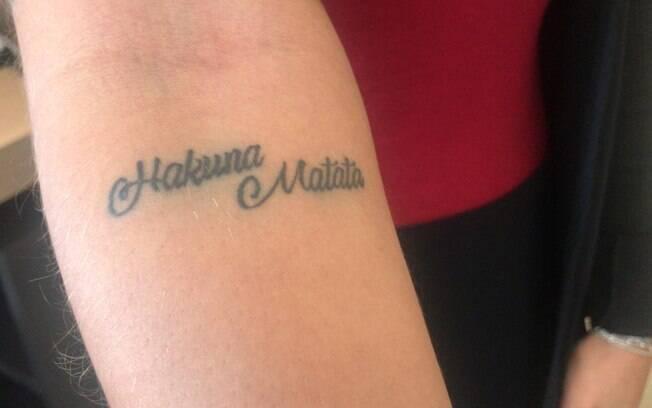 Uma das tatuagens de Camila