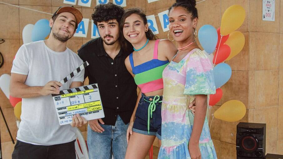 Gabriel Contente, Daniel Rangel, Giovanna Coimbra e Heslaine Vieira