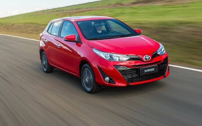 Toyota Yaris também fica em destaque na lista dos carros vendidos no Brasil que menos desvalorizam em 12 meses de uso