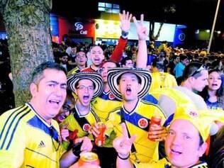 Colombianos invadiram a Savassi, no último sábado, depois do jogo