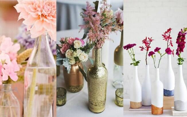 Flores podem aparecer na mesa dos convidados também, dando um encanto a mais na decoração como um todo