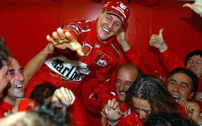 Michael Schumacher ganhou sete títulos na Fórmula 1