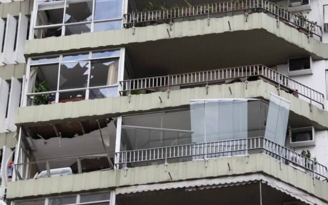 A explosão causou a destruição de apartamentos do Edifício Canoas, na Rua General Olímpio Mourão Filho, em São Conrado, na Zona Sul do Rio