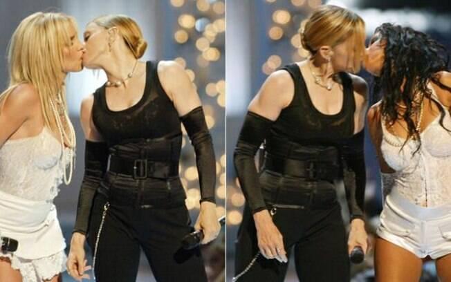 Beijo de Madonna com Britney Spears e Christina Aguilera é um assunto comentado até hoje