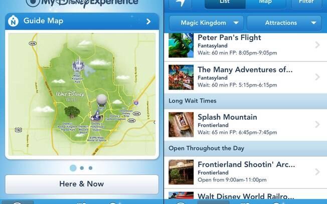 O My Disney Experience exibe em tempo real a espera nas principais atrações. É possível curtir até os brinquedos mais disputados com uma fila de 10 minutos.