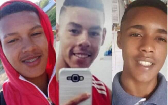montagem com três fotos de jovens