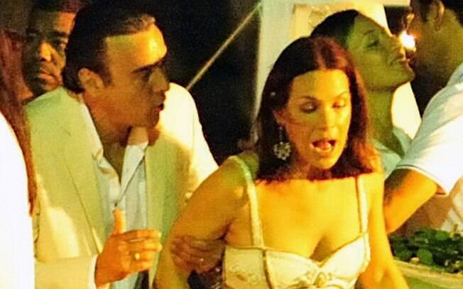 Carolina Ferraz e Alexandre Borges gravam cenas de