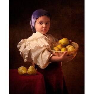 Fotógrafo faz retratos da filha inspirado por pintores clássicos