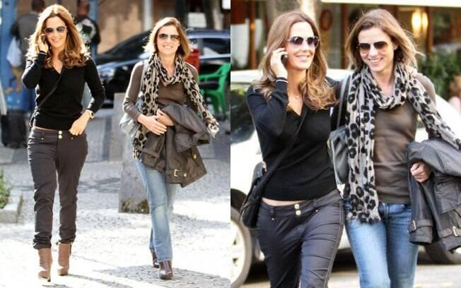Guilhermina Guinle e Vera Zimmerman sairam para almoçar no Rio de Janeiro