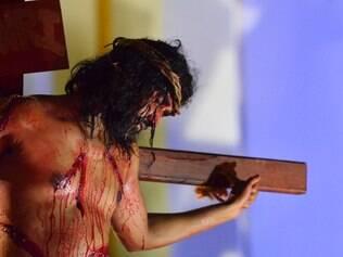 CIDADES - BELO HORIZONTE MG - 18.4.2014 -  Encenacao morte de Cristo em Belo Horizonte MG.  Foto: Douglas Magno / O Tempo