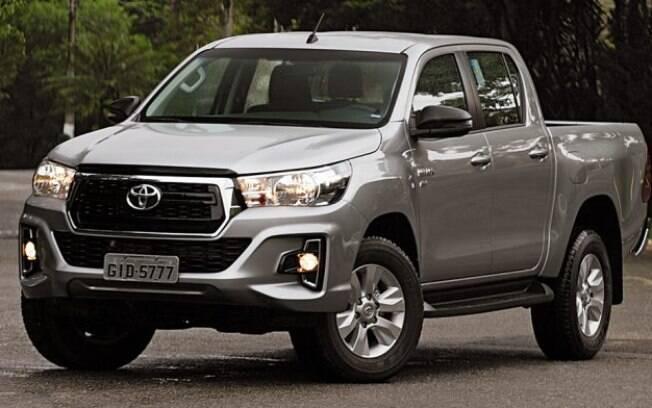 Toyota Hilux foi o líder entre os carros mais depreciados e os menos, sendo o único com uma taxa de valorização