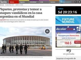 Reportagem pode ser vista no site do jornal argentino
