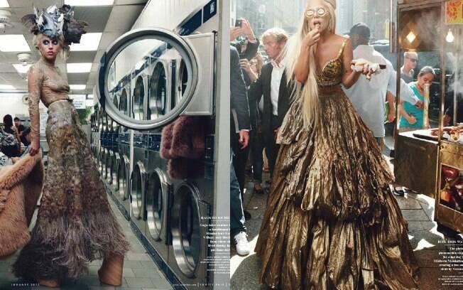 Lady Gaga foi fotografada em semtembro nas ruas de Nova York para a publicação