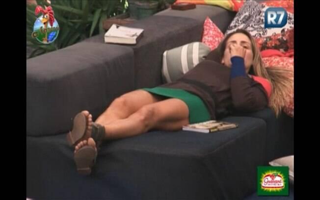 Joana MAchado desabafa na varanda