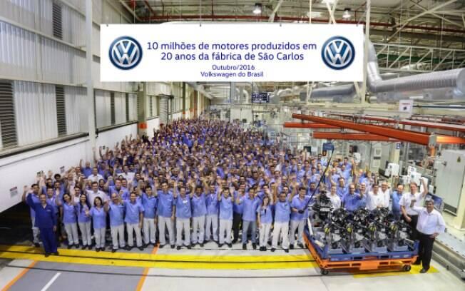 Complexo da Volkswagen em São Carlos produziu 10 milhões de motores em seus 20 anos de vida.