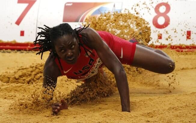 Brittney Reese (EUA) levou o ouro no salto em  distância