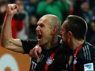 Arjen Robben e Frank Ribéry são os destaques do ataque do Bayern