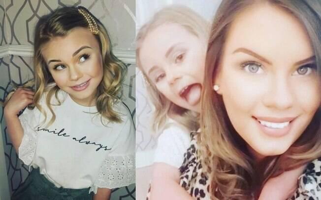 Harriet Parkinson gosta de se maquiar e a mãe apoia