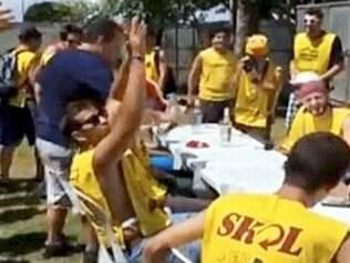 Humberto aparece em vídeo de evento