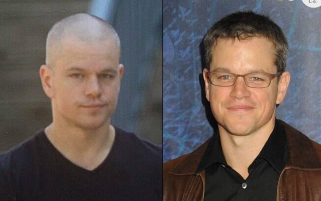 Matt Damon, já considerado um dos mais bonitos do mundo, está careca para o longa
