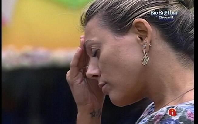 Fabiana conta as horas para o fim do confinamento