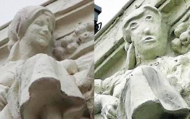 A obra faz parte de um edifício ornamentado do século XX, na Espanha