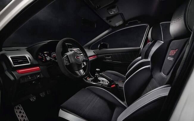 Subaru WRX STi S209 mostrado no Salão de Detroit 2019 tem uma série de itens exclusivos no interior