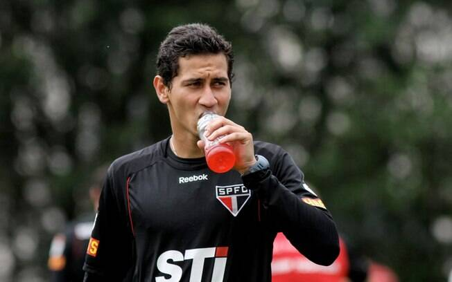 Ganso durante o treino do São Paulo
