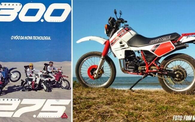 Antiga publicidade da Agrale SXT. Entre as marcas de motos, modelo já surge como raridade entre fãs de off-road