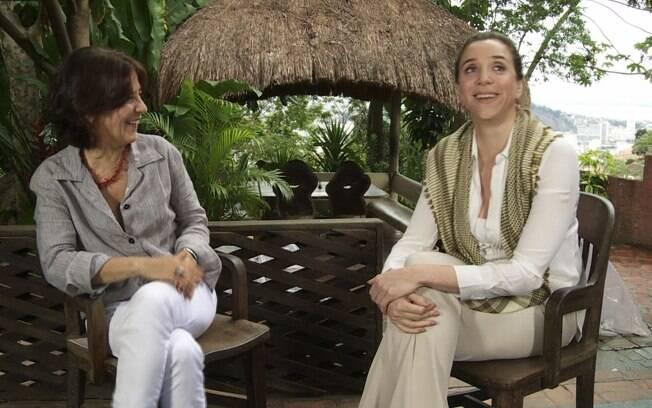 Marisa Orth com a apresentadora Claudia Lisboa, do
