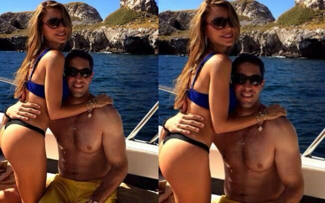 Sofia Vergara mostrou boa forma ao lado do noivo, Nick Loeb, durante suas férias no México