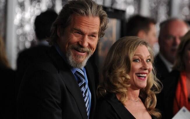O astro Jeff Bridges e sua mulher Susan Geston: juntos há 35 anos