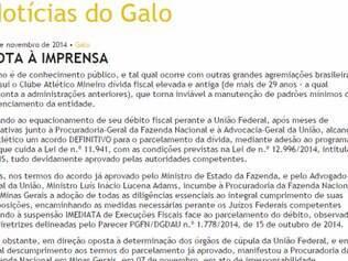 Atlético divulgou nota à imprensa após decisão da Procuradoria do Estado